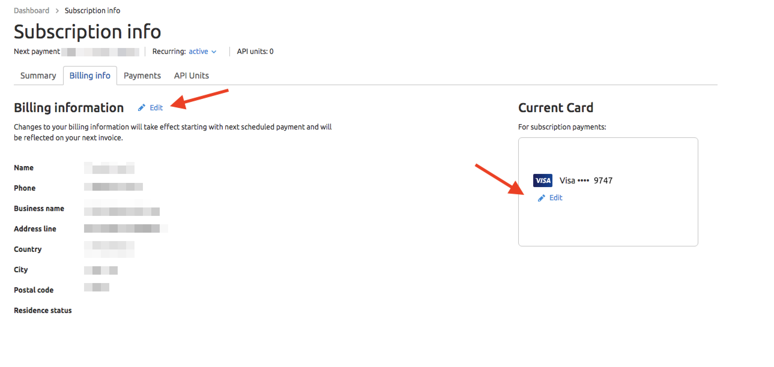 Where can I update my payment information? image 1