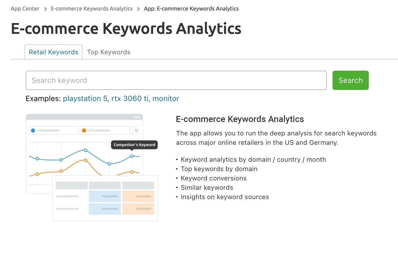 E-commerce Keywords Analytics image 1