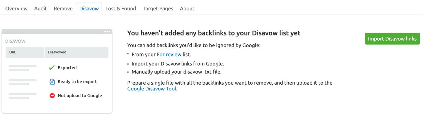 Rejeitando seus backlinks image 1