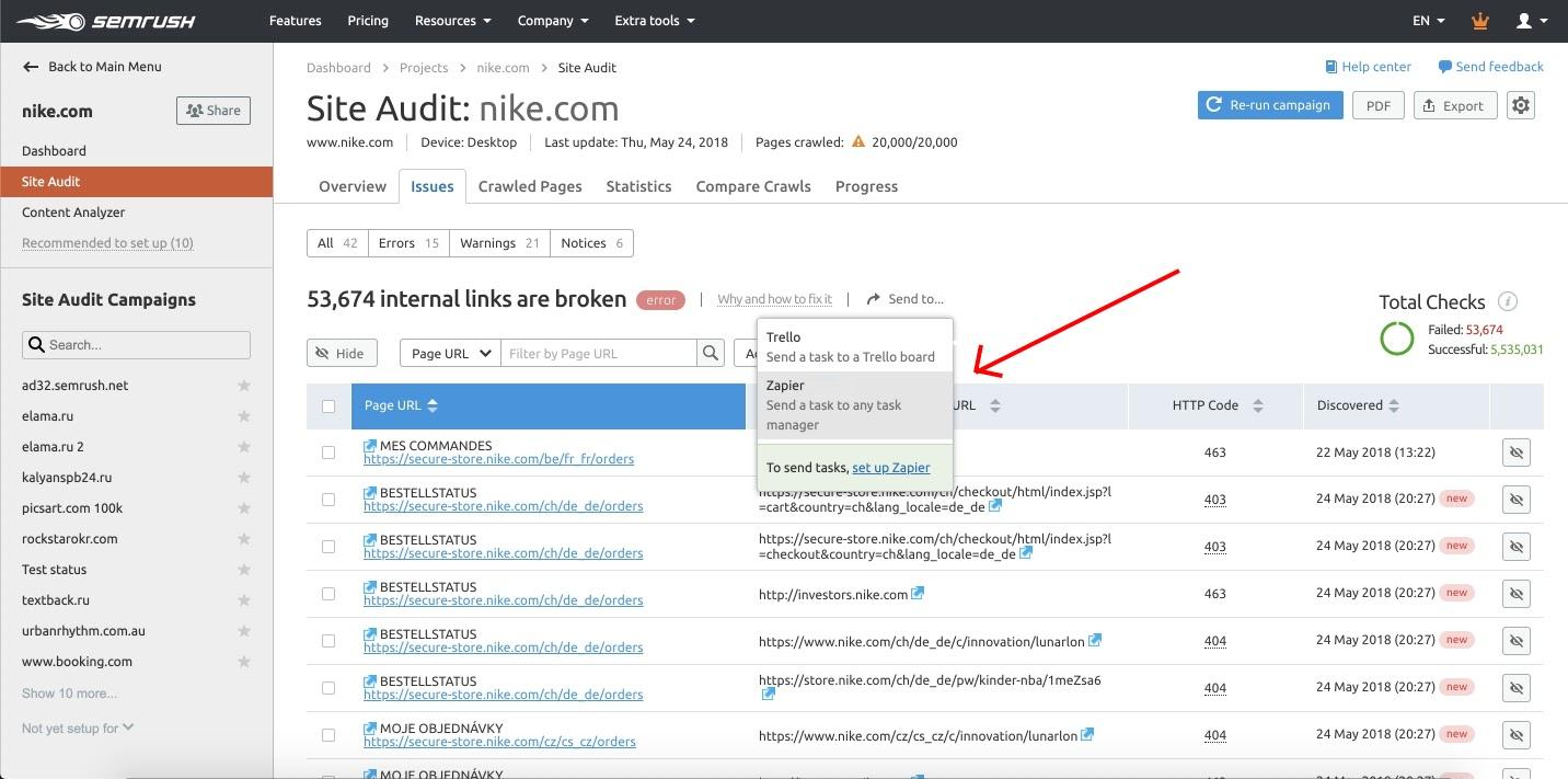 Como integrar Zapier à Auditoria do Site image 7