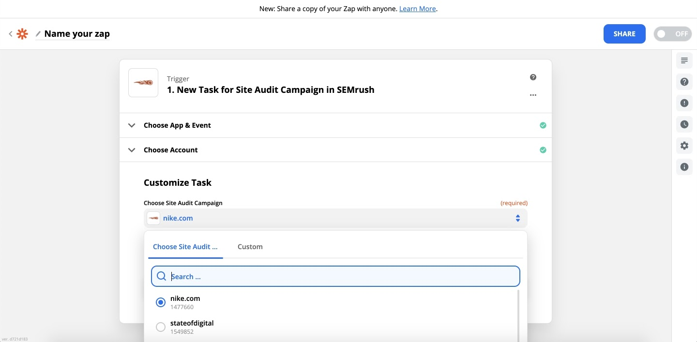 Comment intégrer Zapier à Audit de site image 6