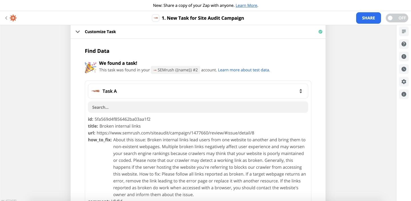 Comment intégrer Zapier à Audit de site image 8