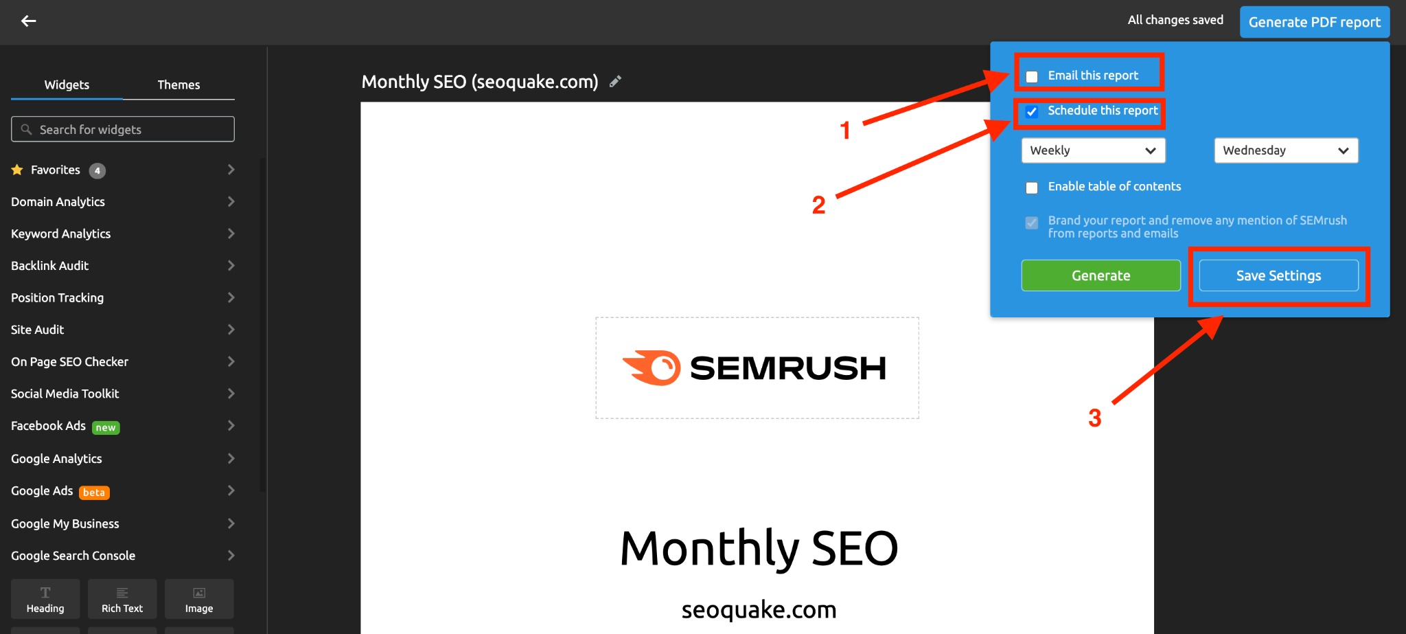 Report Automation with Semrush image 7