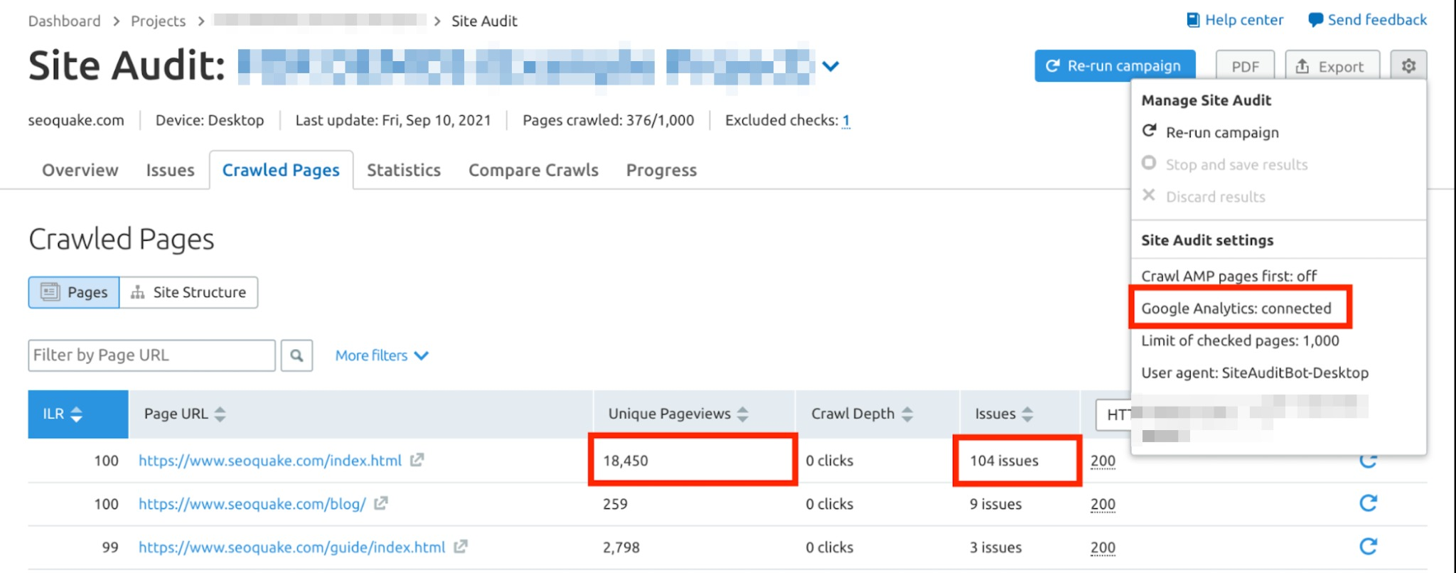 How to Organize Your Work in Site Audit? image 8