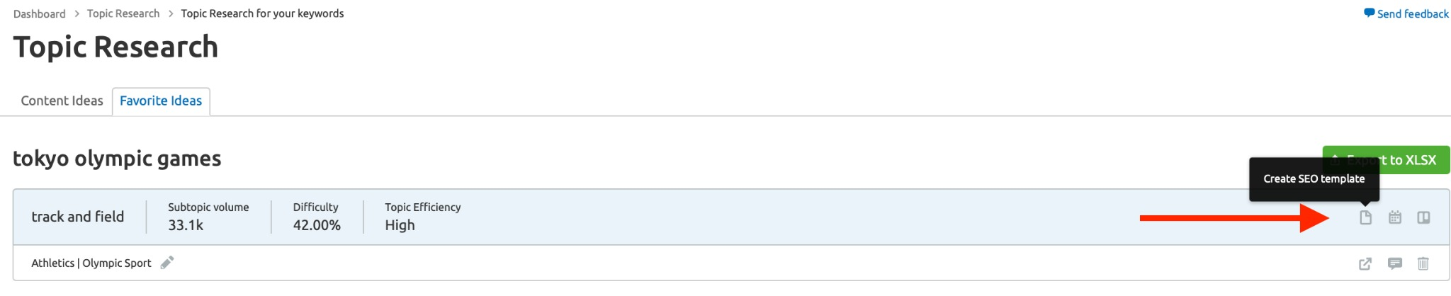 create template button
